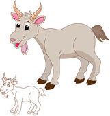 Cute goat cartoon — Stock Vector