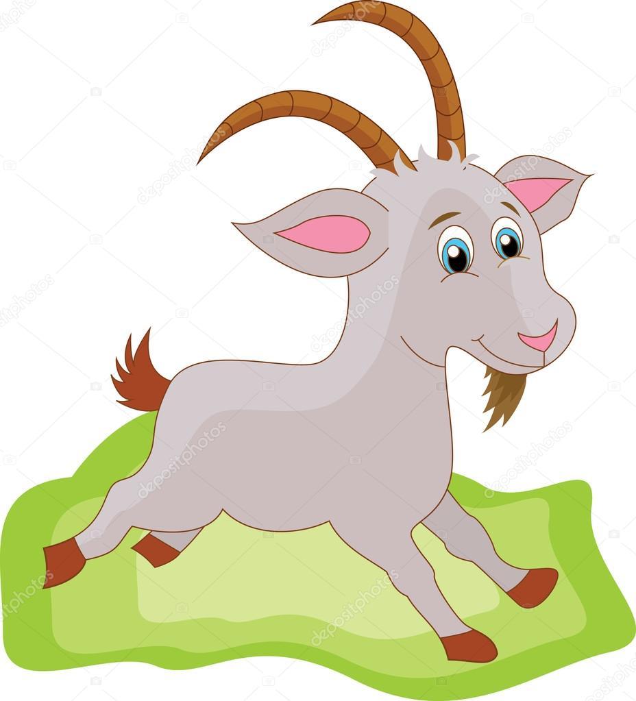 可爱的山羊卡通