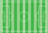 Top view of soccer field or football field - Vector illustration — Stock Vector