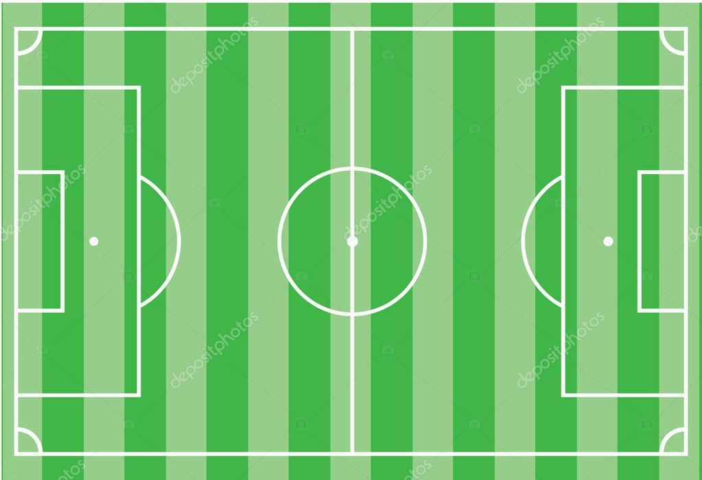 Футбольное поле  сверху