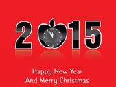 Gott nytt år 2015 kreativa gratulationskort design — Stockvektor