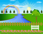 Beautiful landscape background Vector — Stock Vector