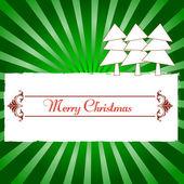 Vintage kartki świąteczne z drzewa, ozdoby boże narodzenie karty — Wektor stockowy