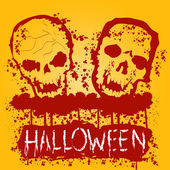 Halloween Zombie Party Poster. Vector illustration. — Stock Vector
