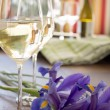 White wine and Lilies in the Spring — Stock Photo #33098891