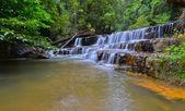 Atas Pelangi Waterfall in Pahang, Malaysia — Stock Photo