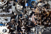 Metal scrap the used car parts — Stock Photo