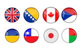 Flags icons — Stock Vector