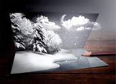 Kış kartı — Stok Vektör