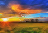 Abstract sunset — Stock Vector