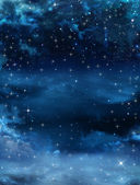 Night sky with stars — Stock Photo
