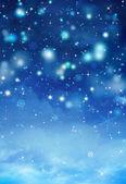 Beautiful blue Christmas background — Stock Photo