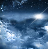 Background of the night sky — Stock Photo