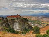 Meteora monastery in Greece - travel background — Stock Photo