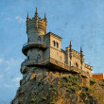 Swallow nest castle in Crimea — Stock Photo #38597769