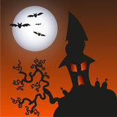 Haunted Monster house - Halloween background — Vettoriale Stock