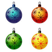 Set of Christmas balls. Christbaumschmuck, Weihnachtskugel — Vector de stock