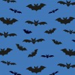 Seamless pattern background with bats. Unusual Halloween Vector illustration for your design — Stock Vector