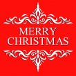 Christmas Greeting Card. Merry Christmas and Happy new year 2014 lettering, vector illustration — Stock Vector #40135057