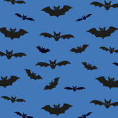 Seamless pattern background with bats. Unusual Halloween Vector illustration for your design — ストックベクタ