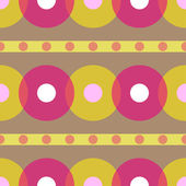 Vintage abstract seamless pattern. Circle. Vector illustration — Stockvektor