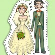 Wedding couple illustration — Stock Photo