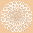 Lace pattern illustration — Stock Photo