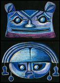 Pair of mask design — Stok fotoğraf