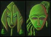 Pair of mask design — Foto de Stock