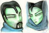 Pair of carnival masks — Stock Photo