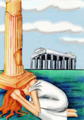 The Greek Goddess Athena. Wisdom Hurts — Stock Photo
