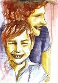 Matka i dziecko uśmiechnięty — Zdjęcie stockowe