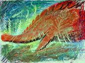 Abstract dinosaur painting — Stock Photo