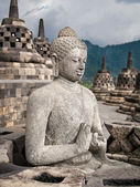 Buddha Statue at Borobudur — Stockfoto
