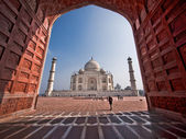 Taj Mahal Seen from the Mosque West of the Mausoleum — Stock Photo