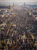 Aerial View of Kumbh Mela 2013 in Allahabad, India — Stock Photo