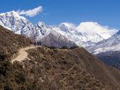 Trekkers on the Everest Base Camp Trek in Nepal — Stock Photo