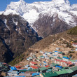 The Himalayan Settlement of Namche Bazaar in Nepal — Stock Photo #34637679