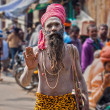 Wandering Sadhu in Varanasi, India — Stock Photo