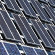 Perspective of Solar Power Panels — Stock Photo