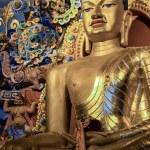 Buddha Statue at Tibetan Buddhist Temple in Bodhgaya, India — Stock Photo #34638159