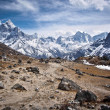 Himalayan Mountains on Everest Base Camp Trek — Stock Photo