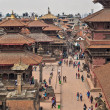 Stock Photo: Aerial View of PatDurbar Square in Kathmandu, Nepal