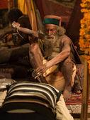 Mahant Amar Bharti Ji at Kumbh Mela 2013 — Stock Photo