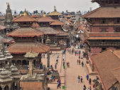 Aerial View of the Patan Durbar Square in Kathmandu, Nepal — Stock Photo