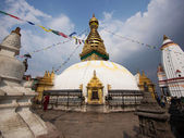 Swayambhunath Stupa, Also Known as Monkey Temple, in Kathmandu, Nepal — Stock Photo
