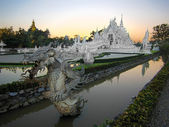 Wat Rong Khun, Popularly Known as the White Temple, in Chiang Rai, Thailand — Stock Photo