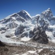 Mount Everest, Nuptse and the Khumbu Icefall Seen from Kala Patthar in Nepal — Stock Photo #35054153