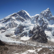 Mount Everest, Nuptse and the Khumbu Icefall Seen from Kala Patthar in Nepal — Stock Photo