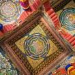 Mandalas Carved into the Ceilings of Buddhist Temple — Stock Photo